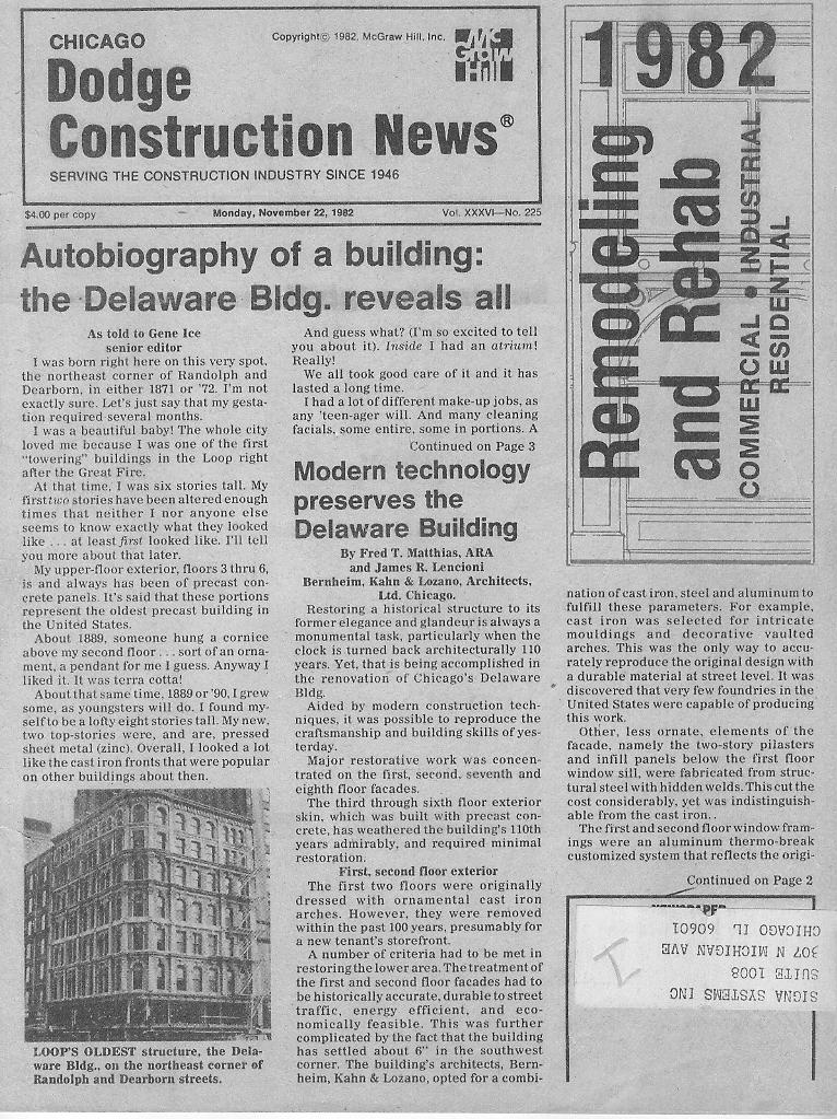 Press Release 1982 Dodge Construction News